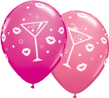 Drinks & Bubbly (Asst) - 11 Inch Balloons 25pcs